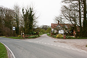 the entrance to Rowley Manor